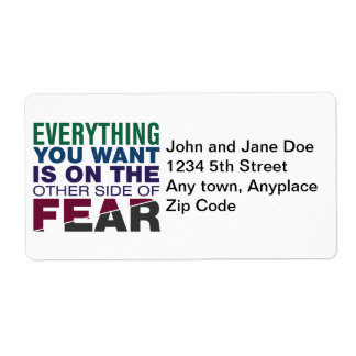 The Other Side of Fear Label