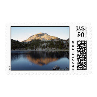 The other side of Lassen Volcano and Lake Helen Postage