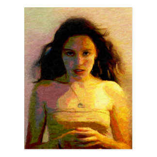 The Other Side of Silence : Oil Painting Postcard