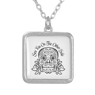 the other side square pendant necklace