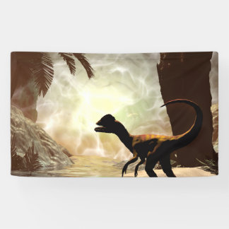 The other world, dinosaur at the river banner