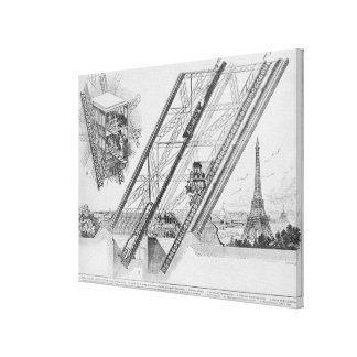 The Otis Elevator in the Eiffel Tower Canvas Print