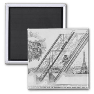 The Otis Elevator in the Eiffel Tower Magnets