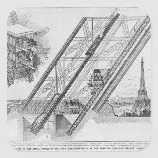 The Otis Elevator in the Eiffel Tower Square Sticker