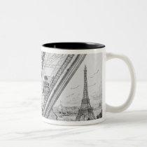 The Otis Elevator in the Eiffel Tower Two-Tone Coffee Mug