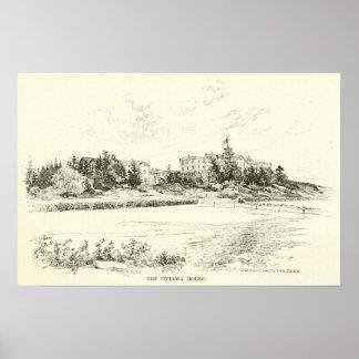 The Ottawa House, Cushing's Island 1886 Poster