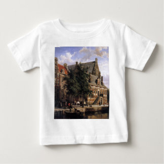The Oude Waag at the Westerkerk by Cornelis Spring Baby T-Shirt