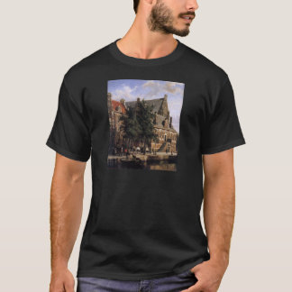 The Oude Waag at the Westerkerk by Cornelis Spring T-Shirt
