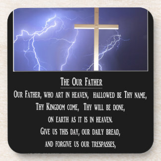 The Our Father Prayer Drink Coaster