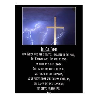 The Our Father Prayer Postcard