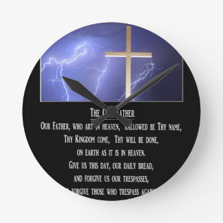 The Our Father Prayer Round Clock