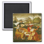 The Outdoor Concert 2 Inch Square Magnet