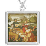 The Outdoor Concert Square Pendant Necklace