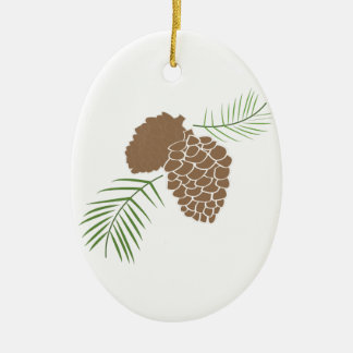 The Outdoors Double-Sided Oval Ceramic Christmas Ornament