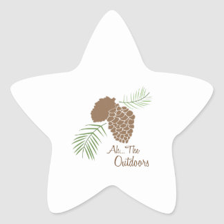 The Outdoors Star Stickers