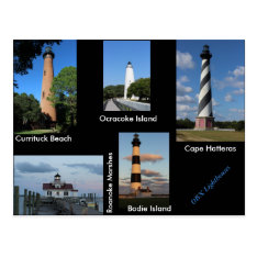 The Outer Banks Lighthouses Postcard at Zazzle
