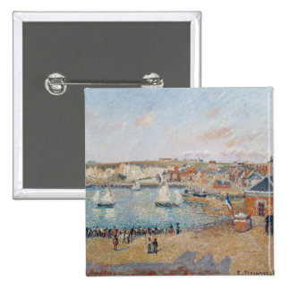 The Outer Harbour at Dieppe, 1902 2 Inch Square Button