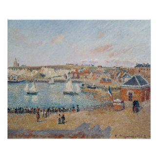The Outer Harbour at Dieppe, 1902 Poster