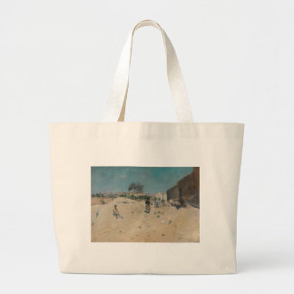 The Outskirts of Madrid by William Merritt Chase Large Tote Bag