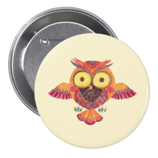 The Outstanding Owl Button