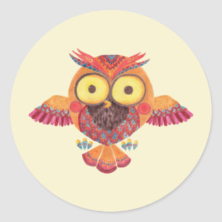 The Outstanding Owl Classic Round Sticker