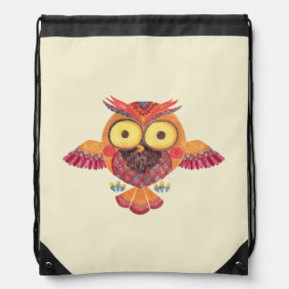 The Outstanding Owl Drawstring Backpack