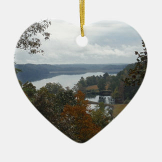 The Overlook, Autumn At Lake Arrowhead Ceramic Ornament