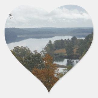 The Overlook, Autumn At Lake Arrowhead Heart Sticker