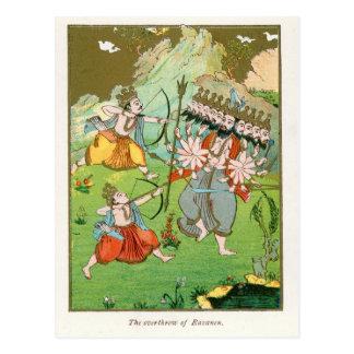 The Overthrow of Ravana Post Cards
