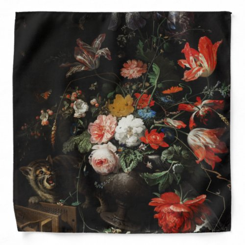 The Overturned Bouquet by Abraham Mignon Bandana