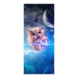 The owl 4x9.25 paper invitation card