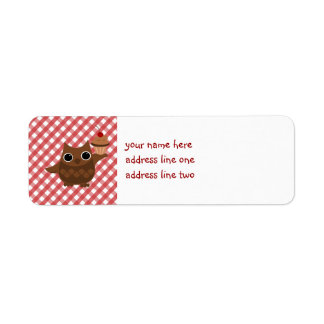 The Owl and the Cupcake Return Address Labels