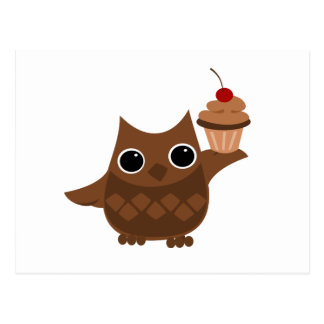 The Owl and the Cupcake Postcard