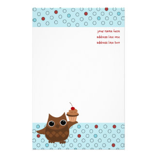 The Owl and the Cupcake Stationery