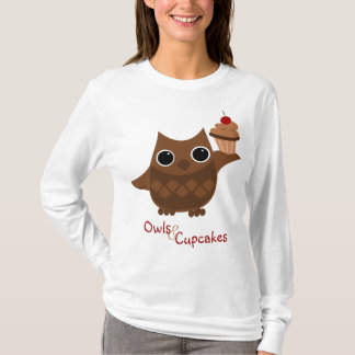 The Owl and the Cupcake T-Shirt