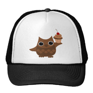 The Owl and the Cupcake Trucker Hats