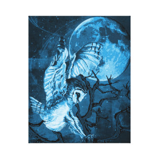 The Owl and the Moon Canvas Print