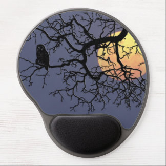 The owl and the moon... gel mouse pad