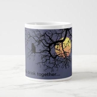 The Owl and the Moon specialty mug 20 Oz Large Ceramic Coffee Mug