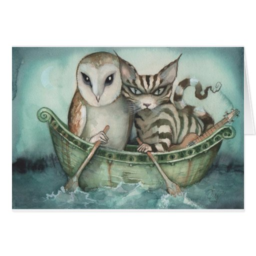 the owl and the pussy-cat greeting card