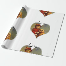 The Owl And The Pussy Cat Love Heart Gift Wrap