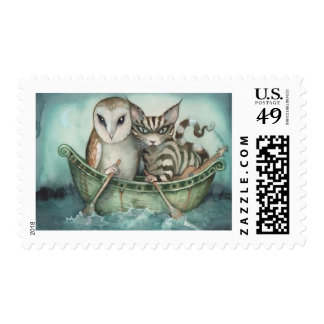 the owl and the pussy-cat postage