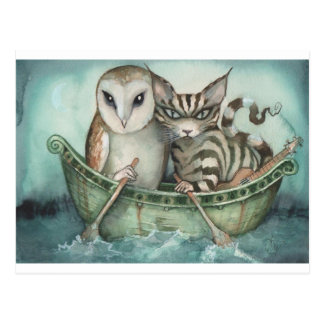 the owl and the pussy-cat postcard
