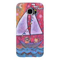 The Owl and the Pussy Cat Samsung Galaxy S6 Case