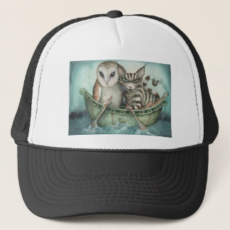 the owl and the pussy-cat trucker hat