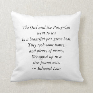 The Owl and the Pussycat - Cushion/Pillow Throw Pillow