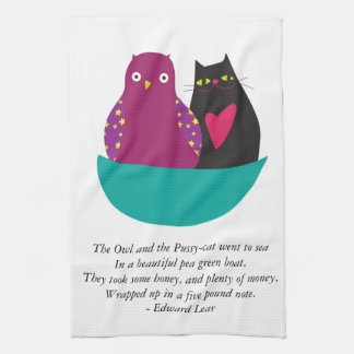 The Owl and the Pussycat - Kitchen Towel/Tea Towl Towel