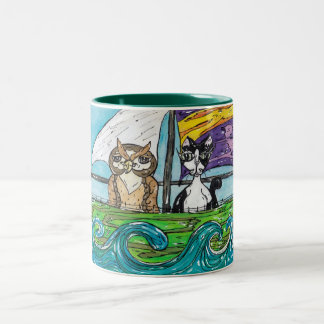 The Owl and the Pussycat Two-Tone Coffee Mug