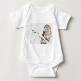 the owl came baby bodysuit