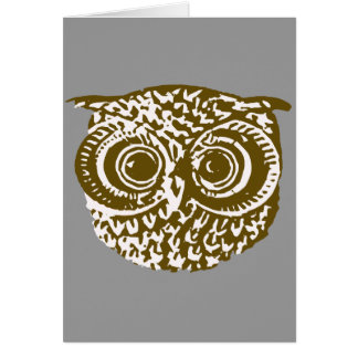 The owl card